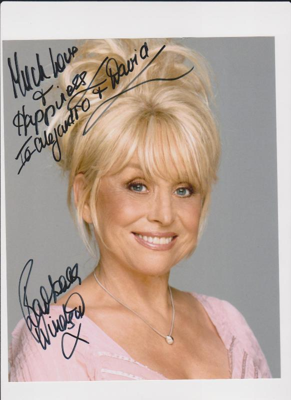 Autographed photo of Babs Windsor