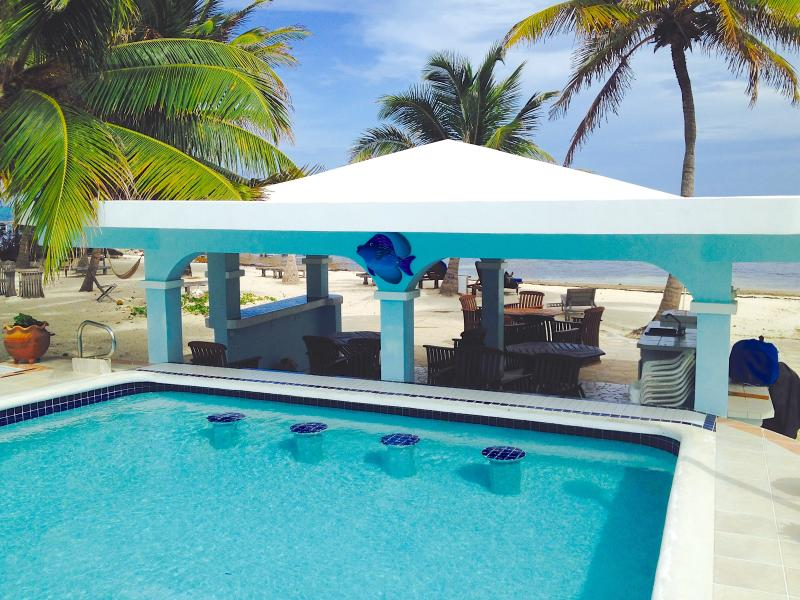 Swim up bar at grill area