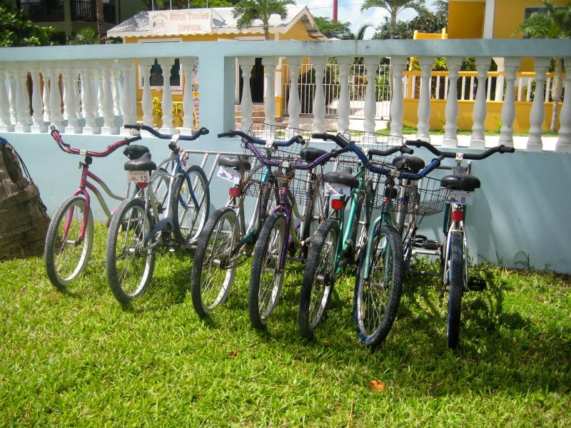 Complimentary bikes for guests