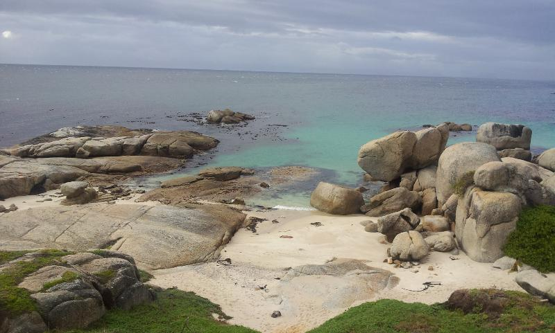 The little private and protected shelly beach beach directly below La Maison