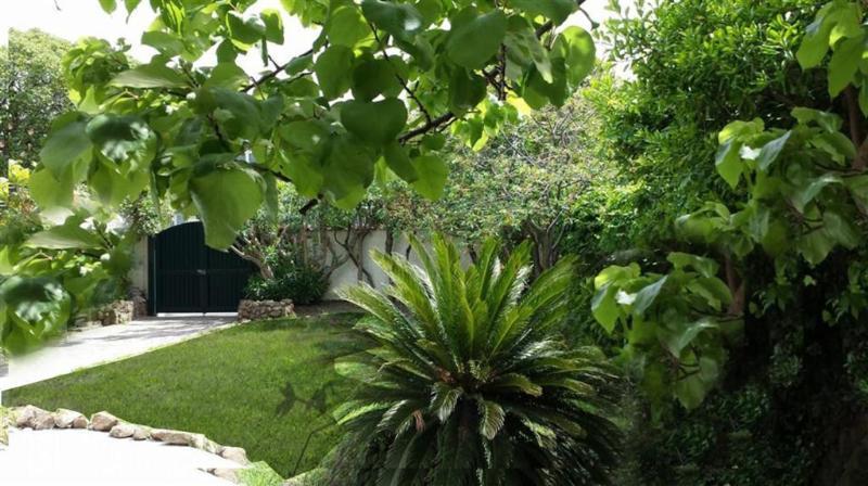 giardino e cancello di ingresso