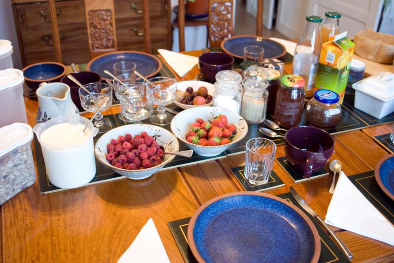 Organic breakfast is only 7 euros per person.