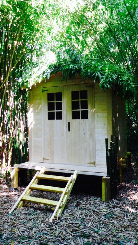 A playhouse in the Bamboo Forest! Great area for the kids