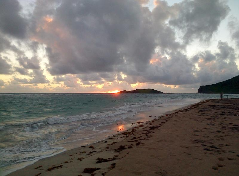 Amazing sunrise from Sandy beach, 5 mins away