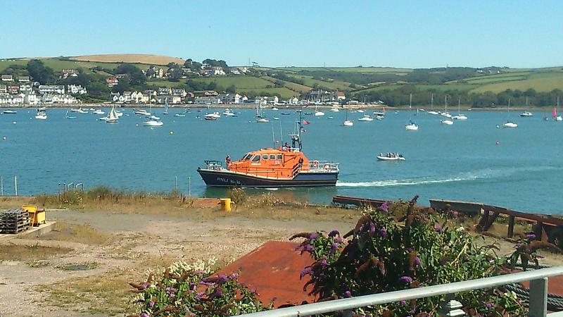 watch the life boat re fuel  from the balcony