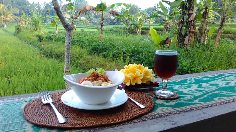 Bubur Ayam / B'fast à ubud villa Paradise. .. La meilleure bubur ala sumaba