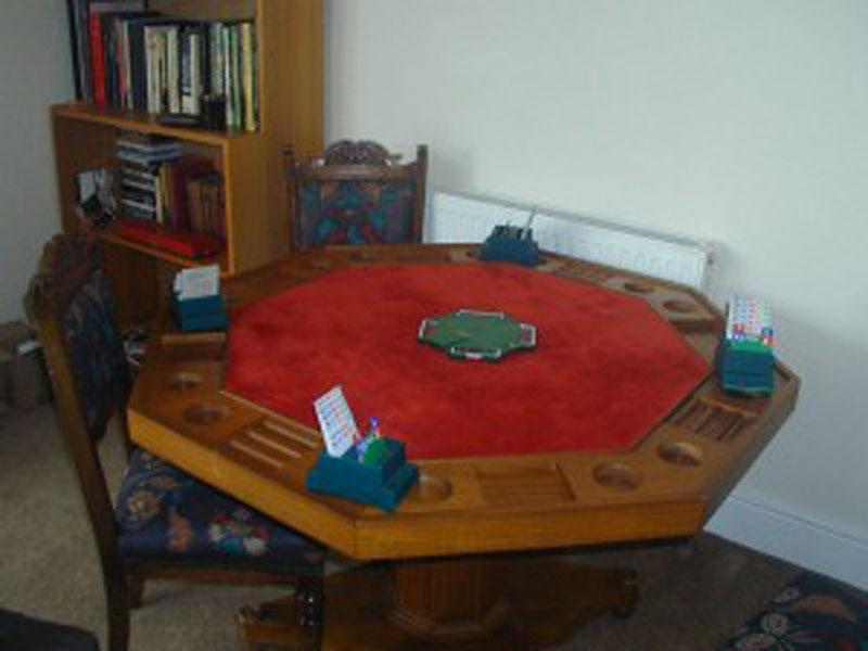 Games table - Bridge or Poker