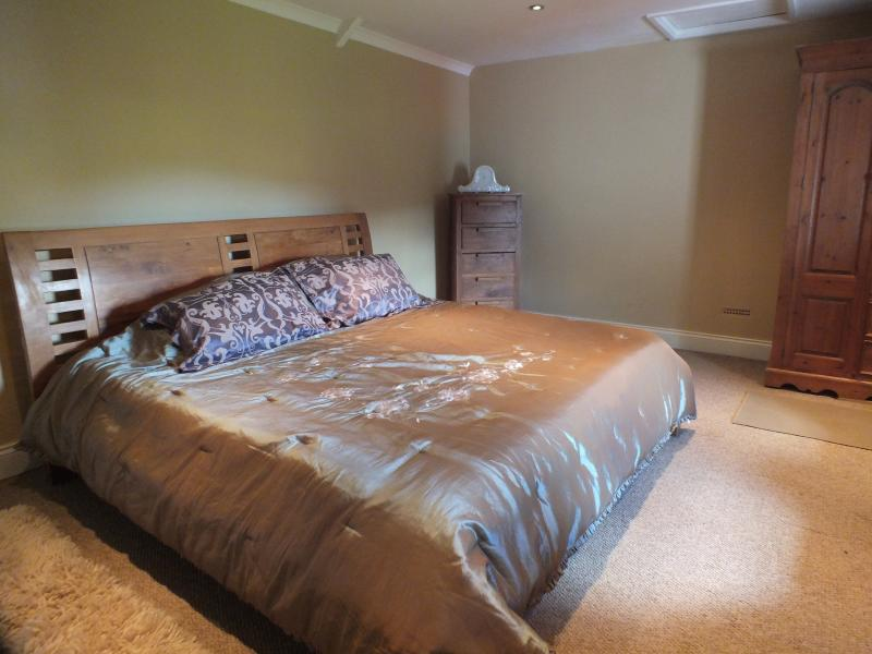 Super king size bed in main bedroom