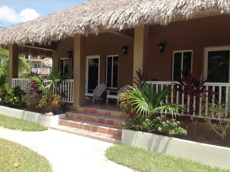 Our beautiful island cabana just steps to the water.