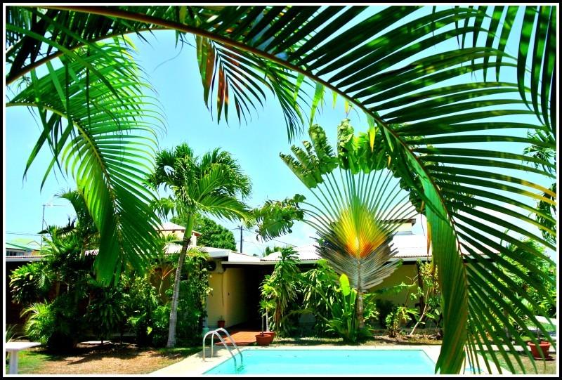 Résidence : jardin piscine  Lewoz à gauche