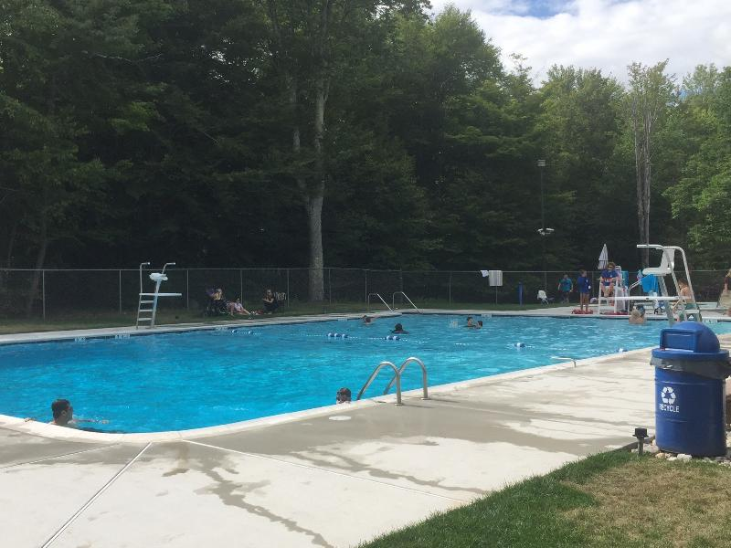Large heated pool and kids pool within walking distance.
