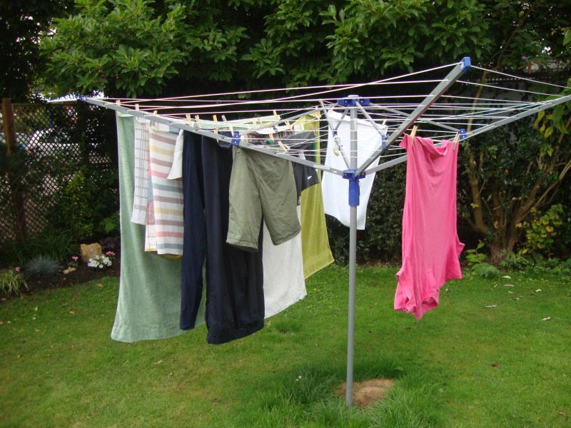 Washing line in the garden