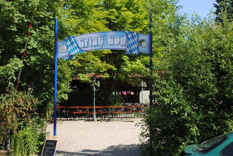 Biergarten der Brauerei Taufkirchen (Vils)
