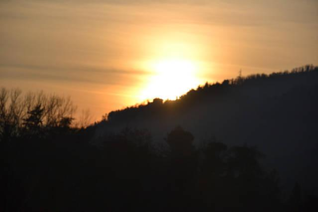 Zonsondergang van Ca ' tre Valli