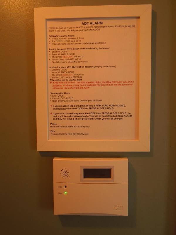 ADT Alarm System