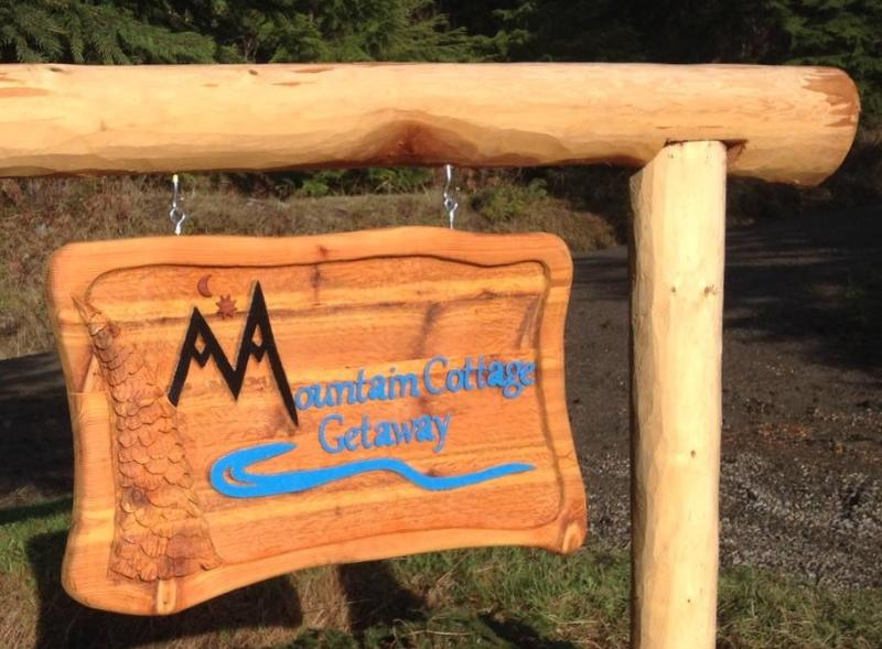 Entrance sign handcarved from local woodcarver