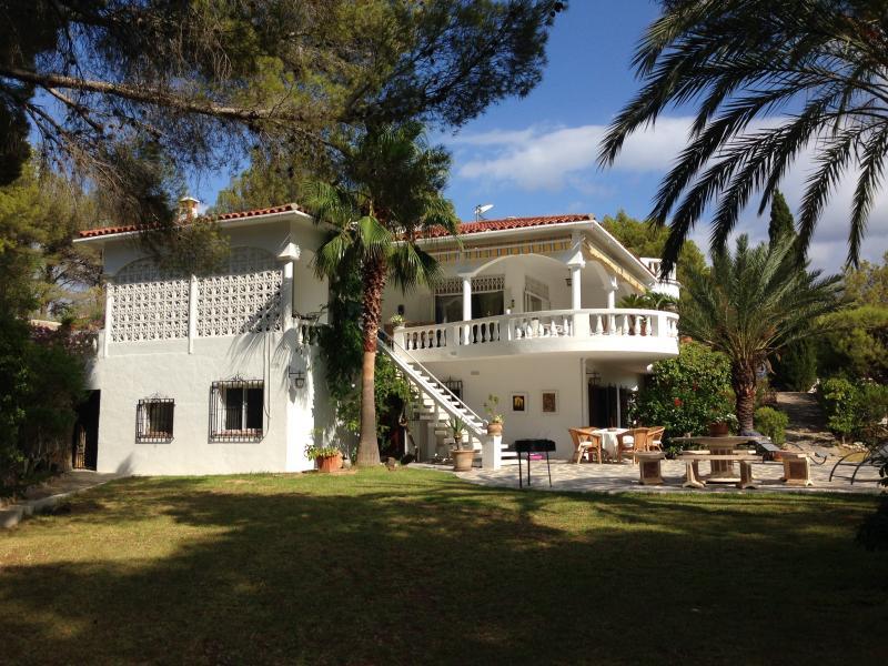 the villa seen from the garden