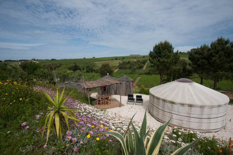View over the Yurt and the valley