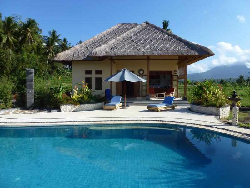 Villa Matahari, new, idyllic, 14 m pool,East Bali, vacation rental in Bunutan
