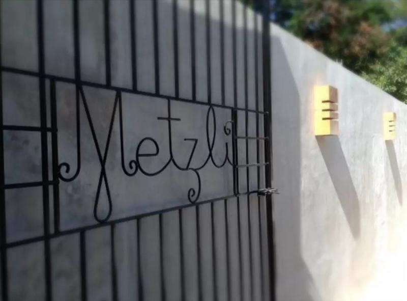 Casa Metzli's custom-designed wrought iron gate