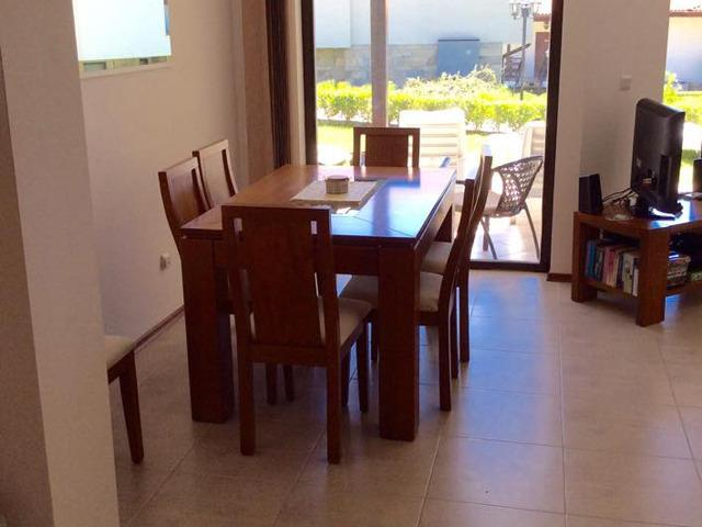 Dining area with 8 chairs (1 not shown).