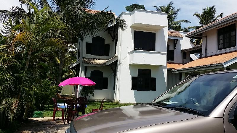 Our hotel, few meters to  beach and transport link. Easy access to down south and up country .