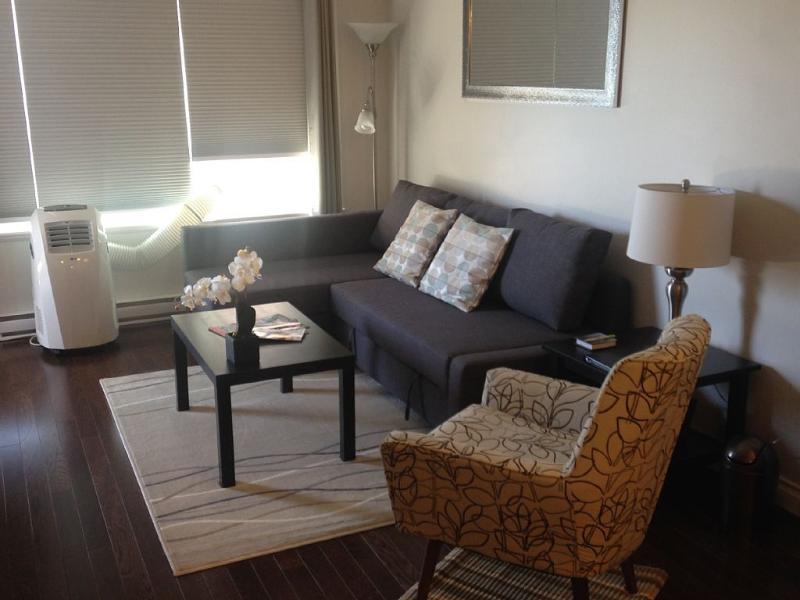 Sofa cama Queen, temporada aire acond., 55' LED TV