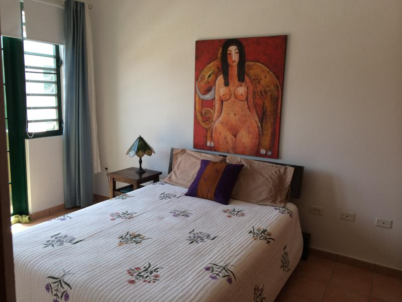 Guest bedroom with twin bed ,air conditioned and balcony
