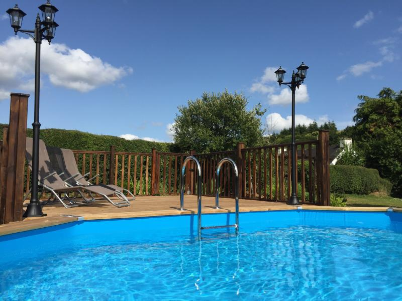 Exclusive private heated pool area