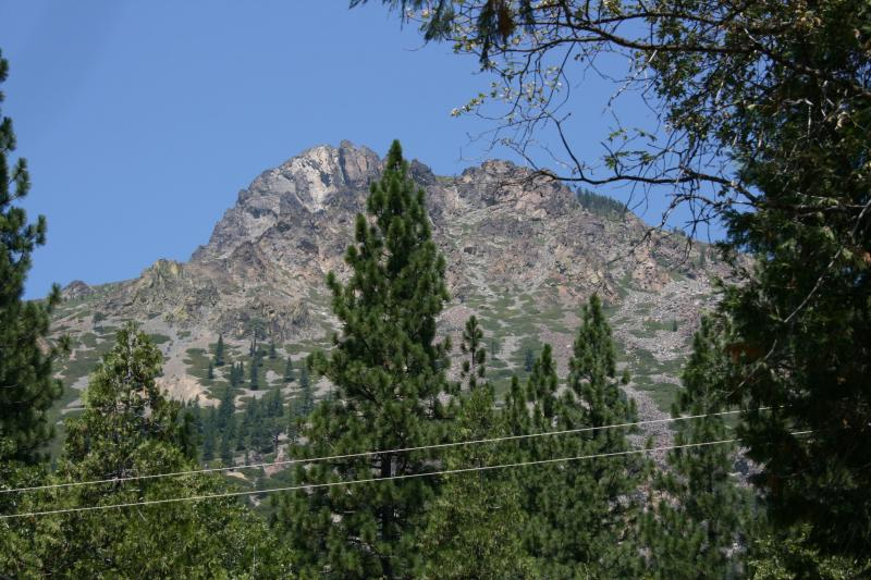 View of the majestic Sierra Buttes from the front porch and dining room