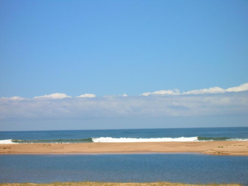 Playa frente a la chacra / casa
