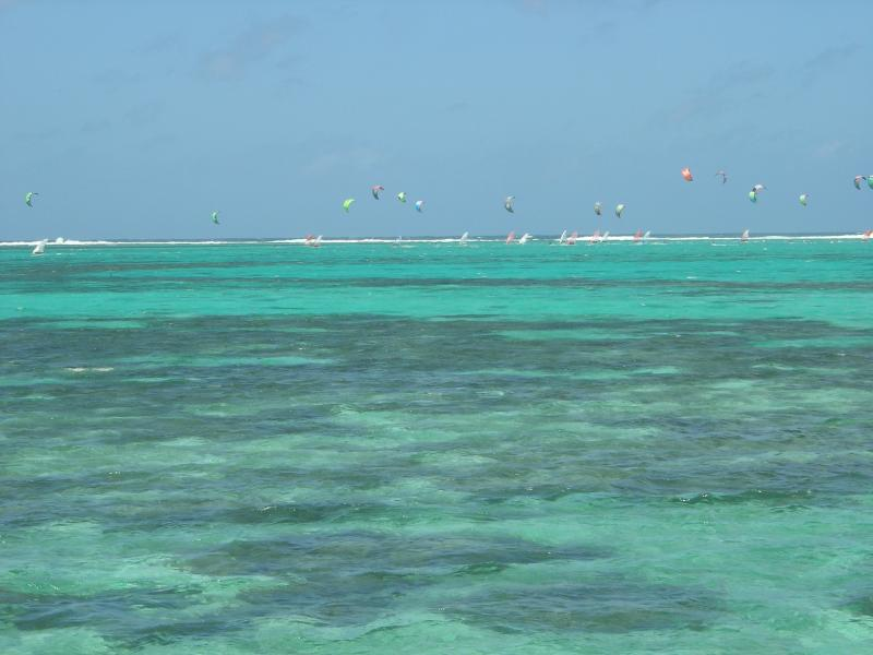 Kite surf and windsurf competition in front of the property