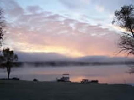 Sunrise on Norcan Lake.