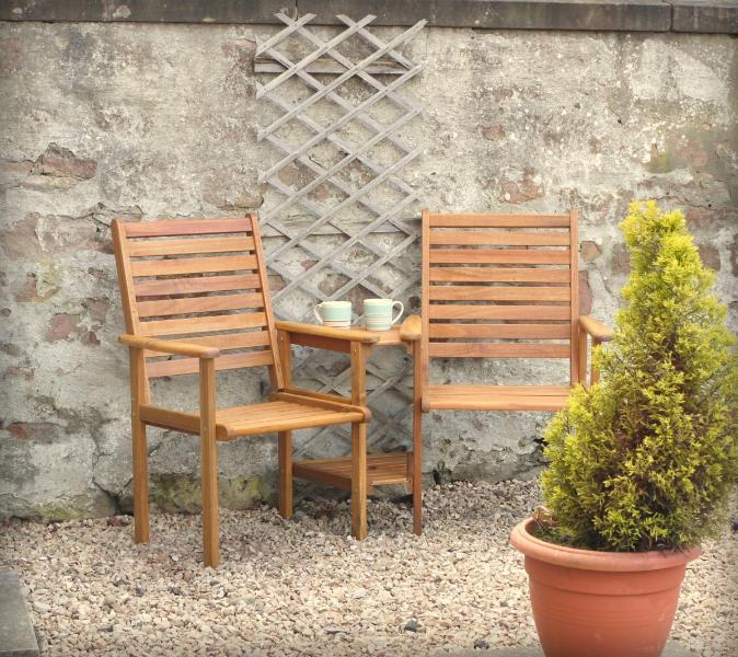 Outdoor space for coffee in the sunshine