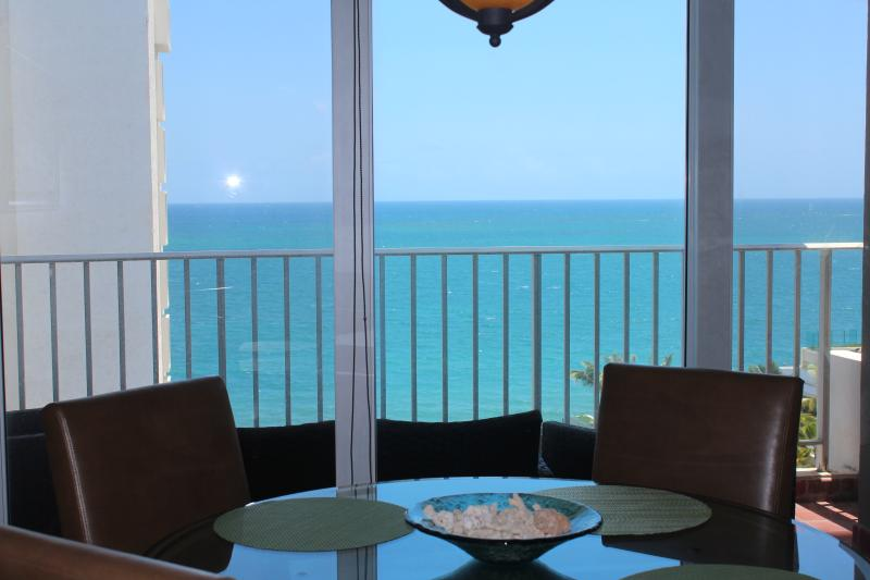 Atlantic ocean view from dining area.