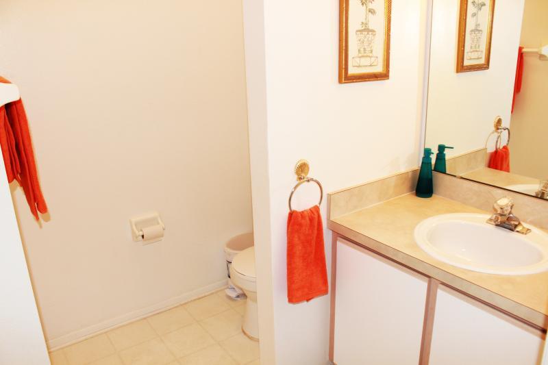 Queen attached bathroom