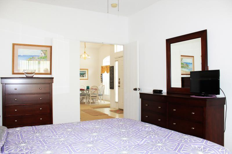 Queen bedroom with new furniture and mattress