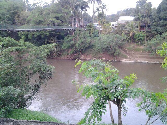 Bridge and Left Sarawak River at Kampung Semadang