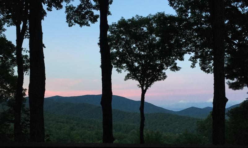 Sunset on the Mountains - Pretty in Pink and Blue!