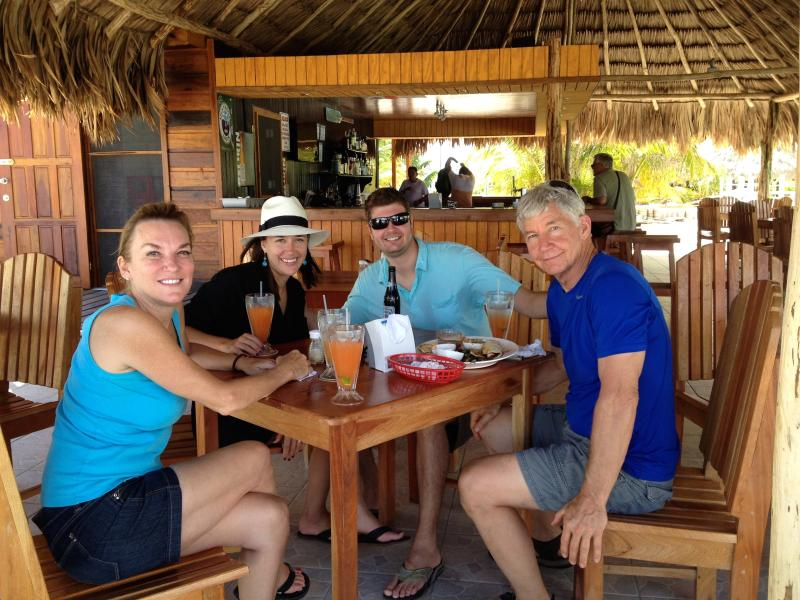 Island Time Beach Bar & Grill (with outdoor bowling!) is a 10 minute walk away