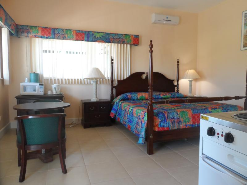 King bed with kitchenette