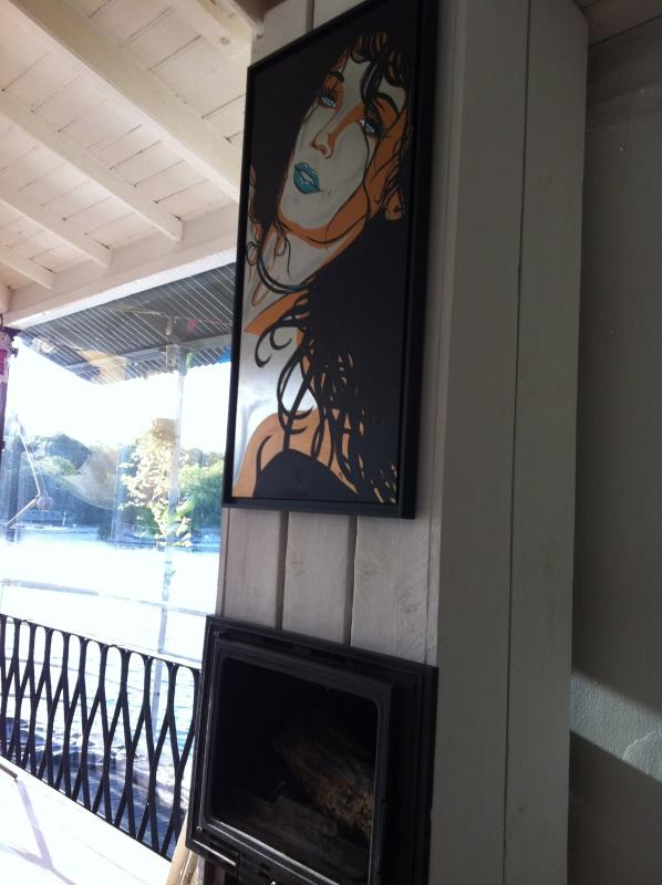 Galería de arte (Pin Up #4 por Marco, acrílico sobre aluminio, 100 x 50 cm, 1700 €)