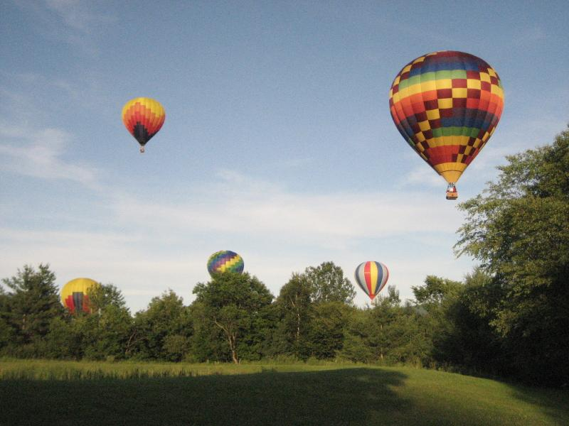 Stowe's Famous July Balloon Festival - Launched from a field a short walk away