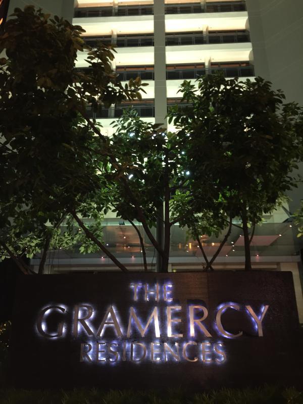 Gramercy Facade (at night)
