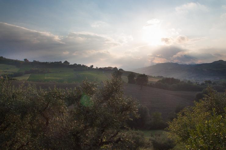Uitzicht vanaf het terras van Villa Fiore