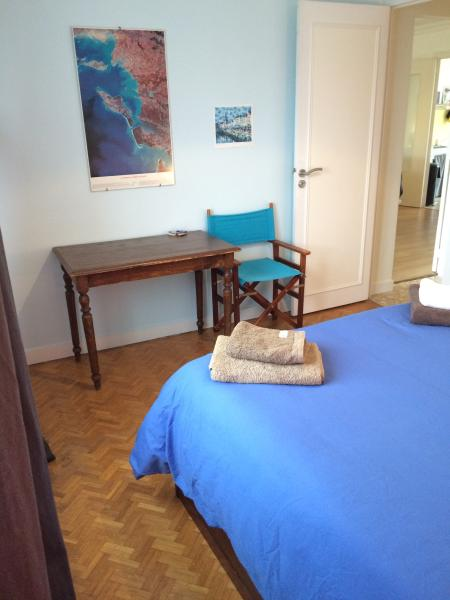 Bedroom 1: Blue bed room.