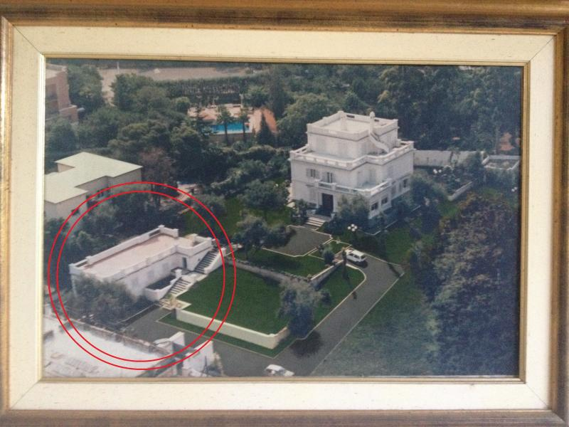 ancient picture of the villa