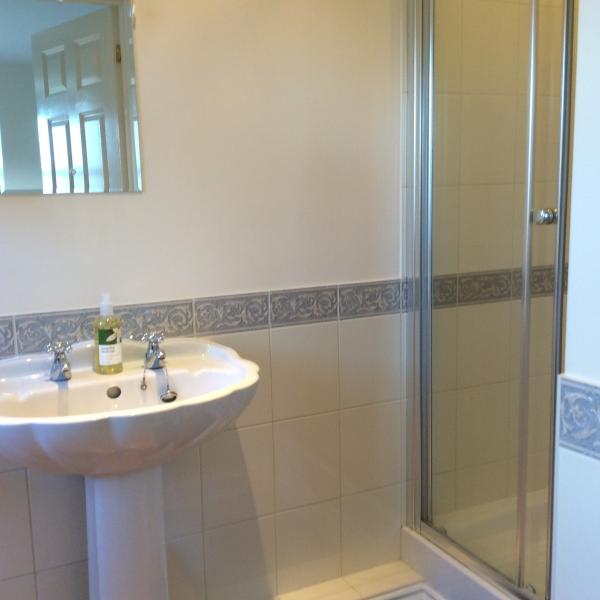 Ensuite shower to the main bedroom which has lovely views. Both rooms are en suite
