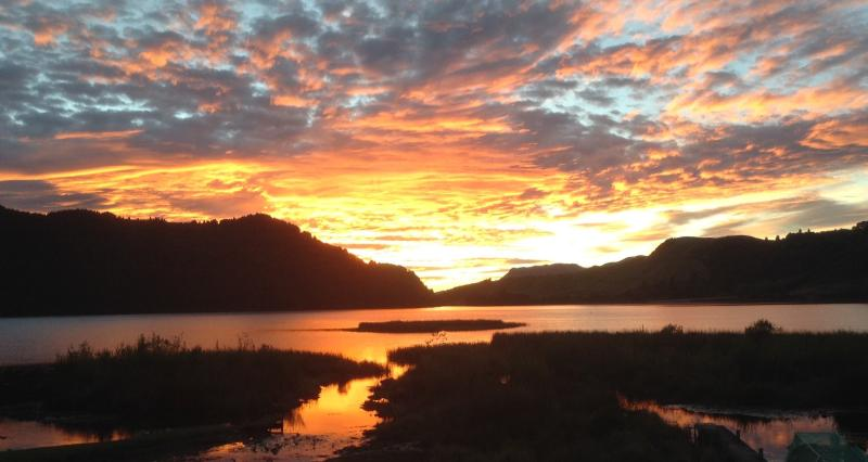 Sometimes we are treated to a tachnicolour sunrise like this!
