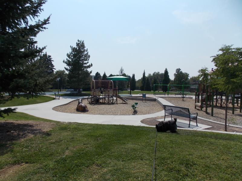 New children's playground in Mayfair Park.